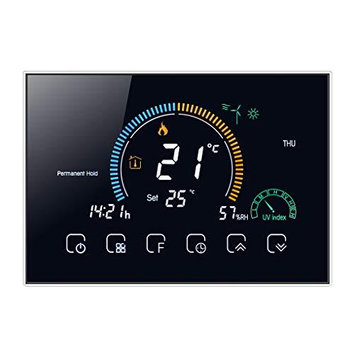 Vokmon General de Las Habitaciones termostato programable LCD retroiluminado de calefacción eléctrica Termostato regulador de Temperatura, Negro