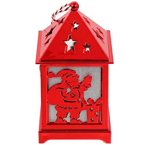 OSALADI Linterna de Navidad Adornos de Casa Iluminados Creativos Luces de Noche Decorativas para Regalos de Navidad Decoración de Año Nuevo Santa Claus