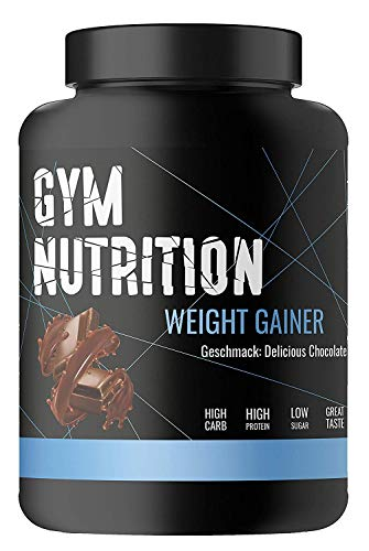 PREMIUM WEIGHT-GAINER – ideal für Body-Builder & Hard-Gainer, die Gewicht aufbauen wollen – Mass & Muscle Powder – Made in Germany — 1-kg, Geschmack: DELICIOUS CHOCOLATE