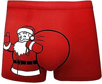 YAMIII Fun Boxers Christmas Boxers,Humorous Underwear,Gag Gifts for Men