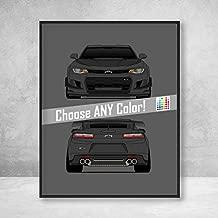 Poster Inspired by Chevy Camaro ZL1 1LE (2018-2019) Poster Print Wall Art Decor Handmade Sixth Generation Camaro