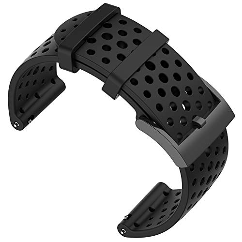 Shieranlee Armband für Suunto 9 Spartan/Suunto 7 Strap, 24MM Ersatz Silikon Uhrband Sport Uhrenarmbänder für Suunto 9/Suunto D5/Suunto Spartan Sport Wrist HR/Suunto 9 Titanium