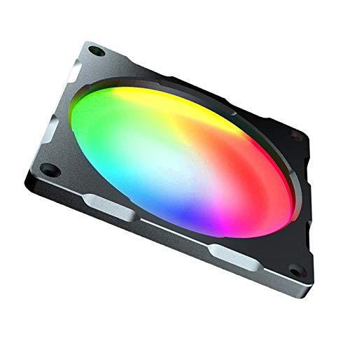Shiwaki Ventiladores de Carcasa RGB, 120mm/140mm Ventilador silencioso de la Caja del Ordenador Ventilador del LED del Cambio de Color RGB - 12cm