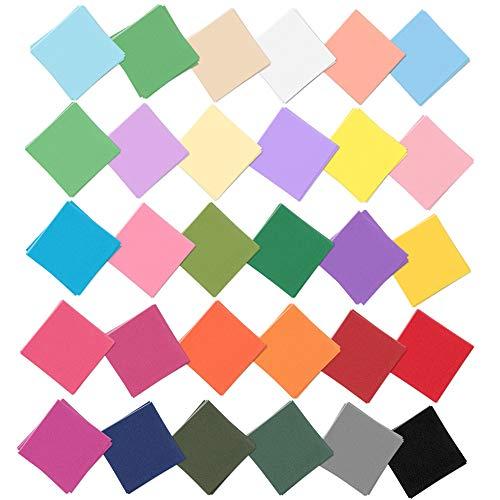 OLRWSLG 3000 Blatt QuadratischesBuntes Papier Doppelseitiges Origami Faltpapier in 30 kräftigen Farben, für Handwerk DIY, Origami, Kunst und Bastelprojekte