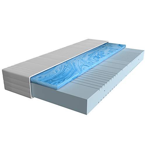 AM Qualitätsmatratzen - Gelschaum-Matratze 90x200cm H3 - Hochwertige Matratze mit 4cm Gelschaum-Auflage - 20cm Höhe - Made in Germany - 90 x 200