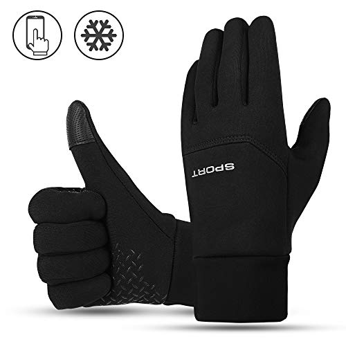 Nasharia Touchscreen Handschuhe Unisex, Wasserdichter Fahrrad Handschuhe Winter Handschuhe Ideal für Sport Im Freien Laufen, Radfahren, Wandern, Fahren, Klettern, Skifahren, Camping