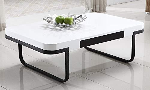 Mesa de Centro Modelo Chic combinada en Blanco y Negro.