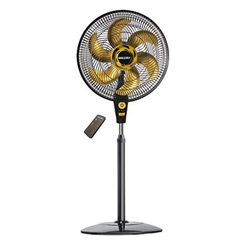 Ventilador de Coluna, Air Timer Style TS+, Preto/Dourado, 220v, Mallory