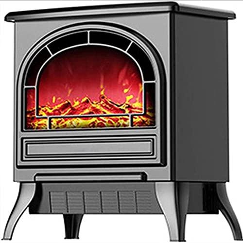 Calentador eléctrico de chimenea 1800W Potencia ultra fuerte, calentador de espacio infrarrojo con efecto de llama 3D, protección contra sobrecalentamiento, calentador de estufa de chimenea in