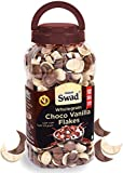 Swad Breakfast Cereal Wholegrain Choco Vanilla Flakes (Zero Cholestarol Duet High Fibree Wheat Chocos) Jar 350 G