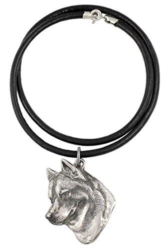 Siberian Husky, Silber beschichtet Halskette, Limitierte Edition, Art Dog