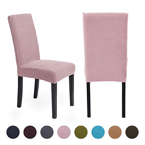 ManMengji Fundas para Sillas de Comedor Elásticas 2 Piezas, Fácil de Limpiar Desmontables Protectoras para sillas, para Hotel, Decor Restaurante, Boda Moderna 🔥