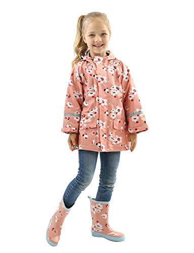Toddler Rain Jacket Girls Boys Double Raincoat Waterproof Hooded Waterproof Hooded Jackets Pink