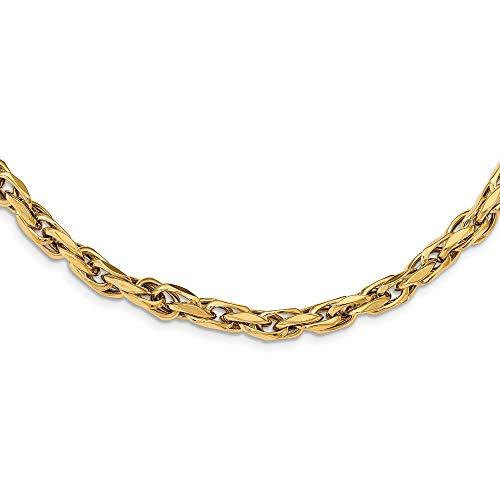 14ct Gepolijst Fancy Link Ketting Sieraden Geschenken voor Vrouwen - 46 Centimeters