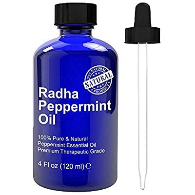 100% NATURAL & PURE PEPPERMINT OIL: Radha Beauty Peppermint Oil is 100% pure and natural with no additives or fillers. Treat yourself to a large 4oz bottle of pure peppermint oil that can promote feelings of positivity, support immune system, and aid...
