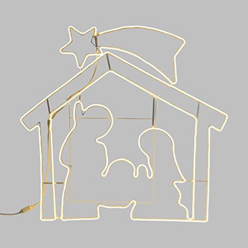 Figura Luminosa, Presepe Effetto Neon bifacciale 115 x h....