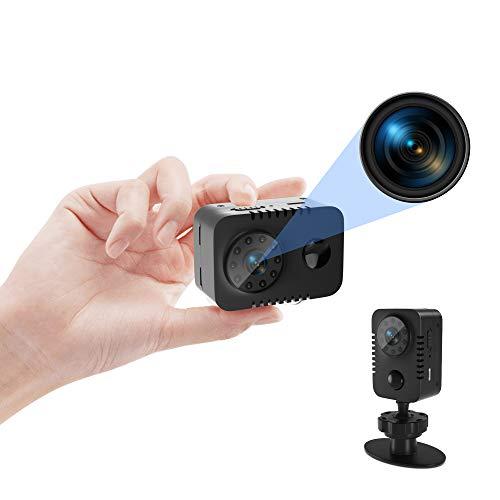 Mini Cámara HD 1080p con detector de movimiento PIR y visión nocturna Cámaras Baby Nanny Cámara corporal Cámara de vigilancia de seguridad interior para seguridad interna 60 días en espera (sin Wi-Fi)