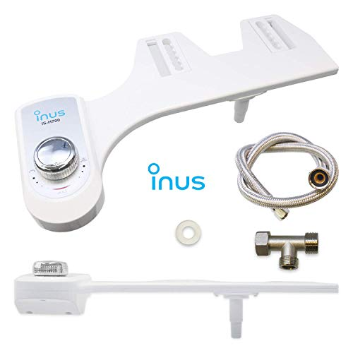 Inus IS-H700 Non-Electric Mechanical Bidet Attachment with Self-Cleaning Single Nozzle, Posterior Wash, Cold System Equipment Complete DIY Manual Installation [Panel-Type/2020 USA Version]]