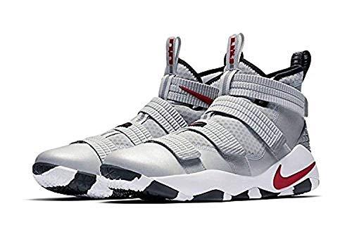 Nike Lebron Soldier XI Men Basketball Metallic Silver/White/Black/Varsity Red 897646-007 (12)