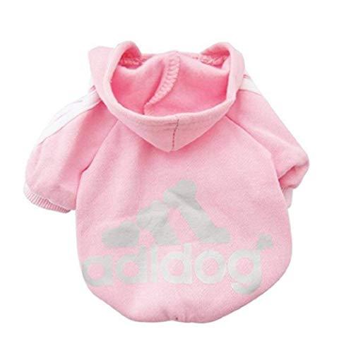 Sunshine D Adidog Haustier Hund Hoodie, Hündchen Overall Pullover, Haustiere Sportswear Jacke Kostüme Welpen T-Shirt für kleine große Hund - Rosa,3XL