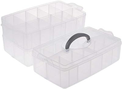 Baoblaze Caja de Herramientas de Joyería de Plástico Enorme Titular de Píldoras Titular Caja de Almacenamiento Organizador Oficina: Amazon.es: Hogar