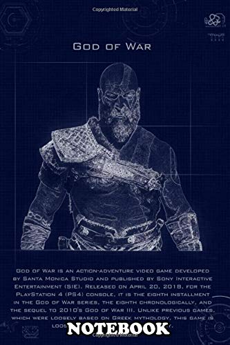 Notebook: God Of War Blueprint , Journal for Writing, College Ruled Size 6