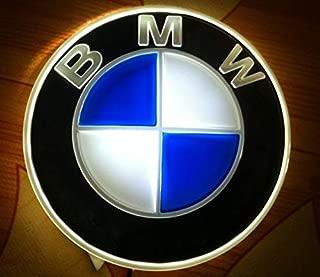 Jianzhucail Auto Illuminated Logo, Glowing Rings, Lights DRL Daytime Running Lights for Hood/Trunk 82mm for All Models BMW E30 E36 E46 E34 E39 E60 E65 E38 X3 X5 X6 X7 X8 LED Emblem Light - White