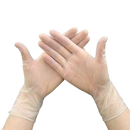 100 voedsel kwaliteit wegwerp latex handschoenen anti-statische plastic handschoenen voedsel schoonmaken koken restaurant keuken accessoires, XL, Transparant, 100