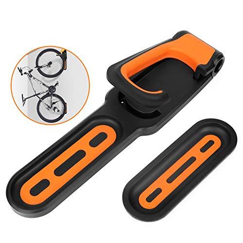 Romote Fahrradhalter Faltbare Vertikal Fahrradträger der Wand befestigter Heavy Duty Fahrradwandhaken Garage Fahrradträger Wandhalterung für Garage Schuppen orange