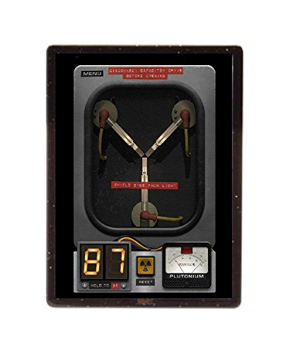 Back To The Future Flux Capacitor Magnet Framed with stand 4X3 inch by Final Score Products