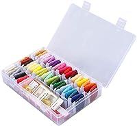 刺繍糸セット, iReaydo 収納ボックス付き刺繍糸, 50色 8M 刺しゅう糸とクロスステッチツール