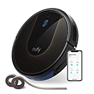 Wi-Fi Convenience: The EufyHome app, and Amazon Alexa and the Google Assistant voice control-services let you accomplish your vacuuming needs with zero effort from you. Worry-Free Cleaning: Set Boundary Strips and the robotic vacuum cleaner's slim 2....