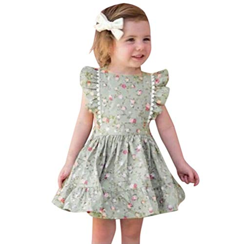 Koojawind Toddler Baby Sister Girls Sleeveless Ruffles Imprimé Floral Robe Dos Nu VêTements, Jupe Dos Ouvert Robe Soeurs S'Habiller, Jupe IrréGulièRe Jupe Robe Jupe Princesse Tutu
