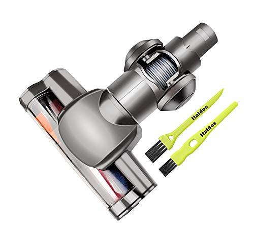 Italdos Cepillo motorizado eléctrico turbo compatible con Dyson V6 DC45 DC58 DC59 DC62 DC61 cepillo de rodillo de cerdas para parquet baldosas
