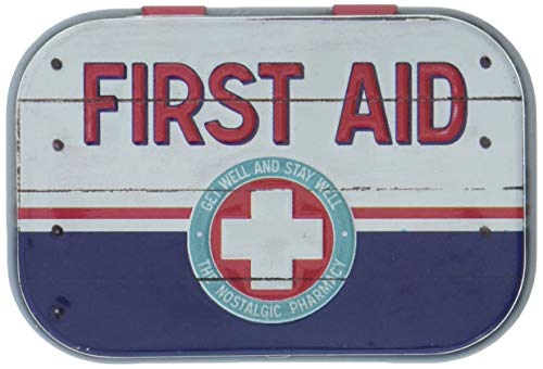Nostalgic-Art 81320, Nostalgic Pharmacy, First Aid Blue - Emergency Supply, Pillendose