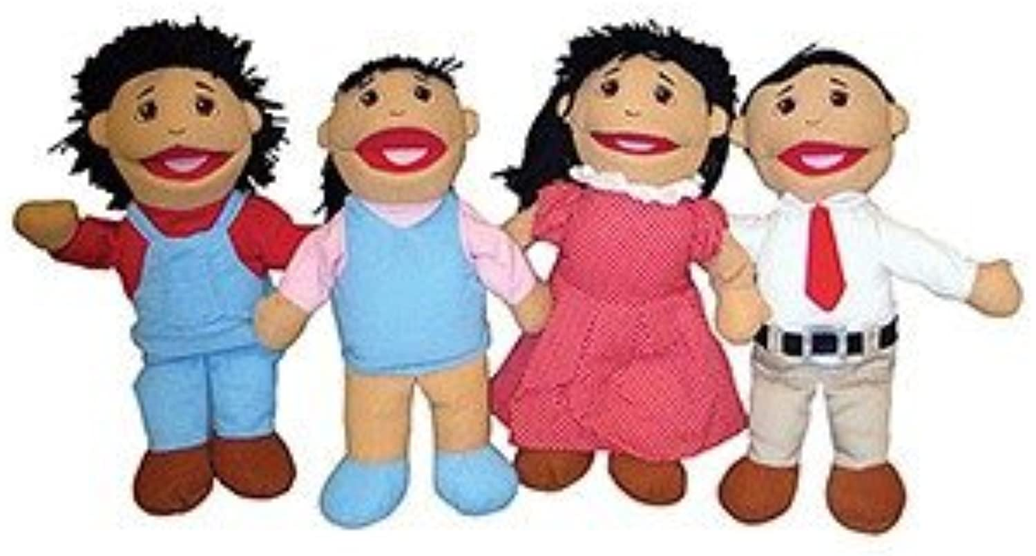 Family Puppets  Asian, Set Of 4 by MARVEL EDUCATION COMPANY