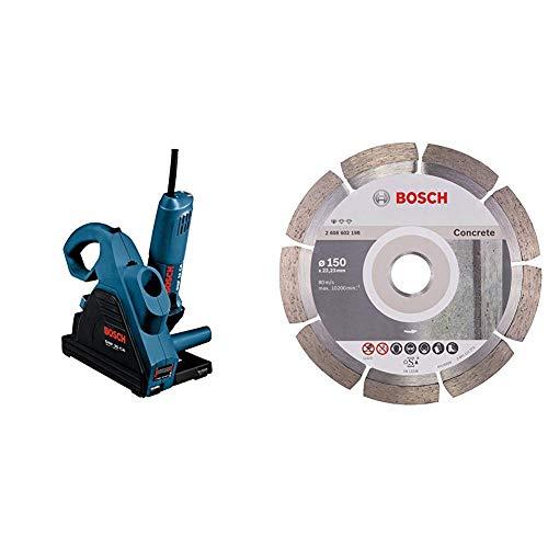 Bosch Professional 0601621703 - Rozadora eléctrica + Bosch 2608602198 - Disco de corte de diamante Professional for CONCRETE 150 mm