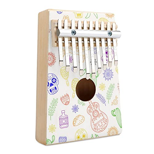 Dibujos animados Doodle Collection Objetos Cinco música portátil dedo Piano regalos para niños y adultos, regalo para niños adultos principiantes profesionales.
