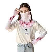 夏の氷爽防日のスムースプリントのスムースジャケットの女性の紫外線防止の薄いロングタイプの日焼けマスクのスムースジャケットの2つのセット 日焼け防止の袖 紫外線対策スリーブ アイシング日焼け 日やけ止めの袖 婦人は紫外線を遮断する 日焼け防止スリーブ2枚セット日やけ止め 通気性のよい日やけ止めの袖 夏の日焼け防止スリーブ (パターン2)