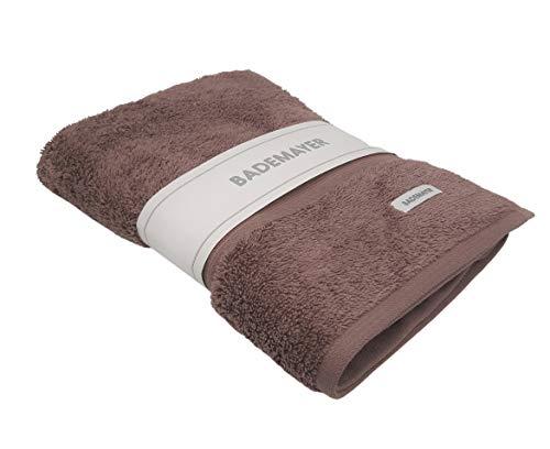 Bademayer Lujosa toalla de baño de rizo 100% algodón egipcio peinado, 77 x 140 cm, sin pelusas (marrón)
