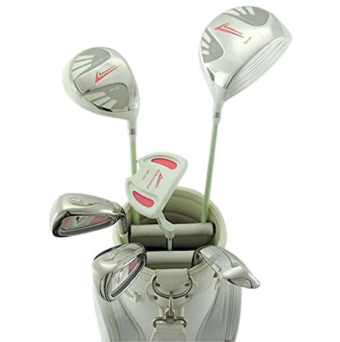 ブローアコーみぞれWORLD EAGLE(ワールドイーグル) 101 レディース ゴルフ ハーフセット 右用 ホワイト