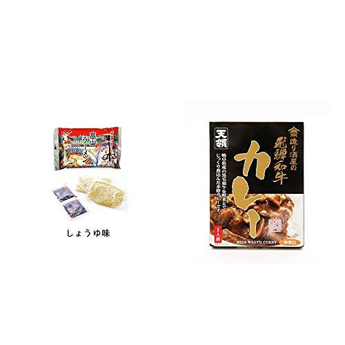[2点セット] 飛騨高山ラーメン[生麺・スープ付 (しょうゆ味)]・造り酒屋の飛騨和牛カレー【中辛】 (1食分)