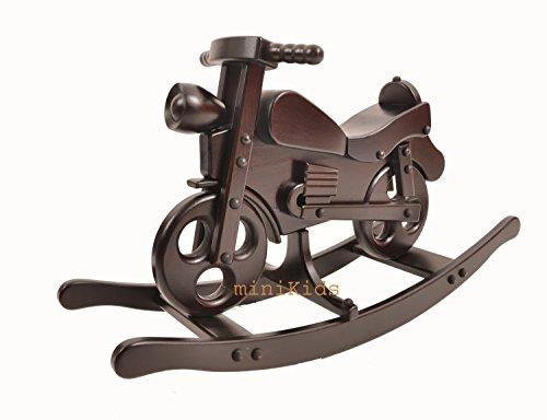Moto à bascule cheval à bascule jouet en bois Matis Dark neuf