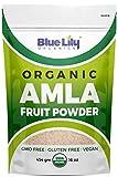 Blue Lily Organics Amla (Amalaki / Indian Gooseberry) Fruit Powder. 1 lb (16 oz)-100% Pure, Organic. Antioxidant, Natural Vitamin C Powerhouse. Digestion, Skin, Hair. Bulk Stand-up Pouch.