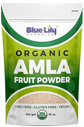 Blue Lily Organics Amla (Amalaki/Indian Gooseberry) Fruit Powder. 1 lb (16 oz)-100% Pure, Organic. Antioxidant, Natural Vitamin C Powerhouse. Digestion,...