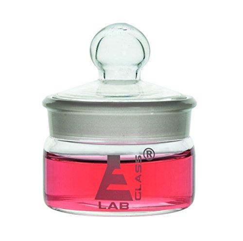 Botella de pesaje, forma baja, capacidad de 35 ml, vidrio