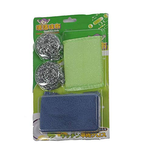 zhibeisai Home Kitchen Steel Wire Ball Scrubbers Cleaning Tools Set Sponge Eraser Stuffed Dish Dinnerware Washing Cloth