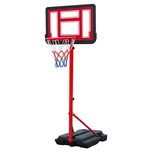 portátil Juego de Baloncesto, Canasta Baloncesto con Soporte y 2 Ruedas Soporte de Baloncesto Altura Ajustable para niños para niños en Interiores al Aire Libre,Red