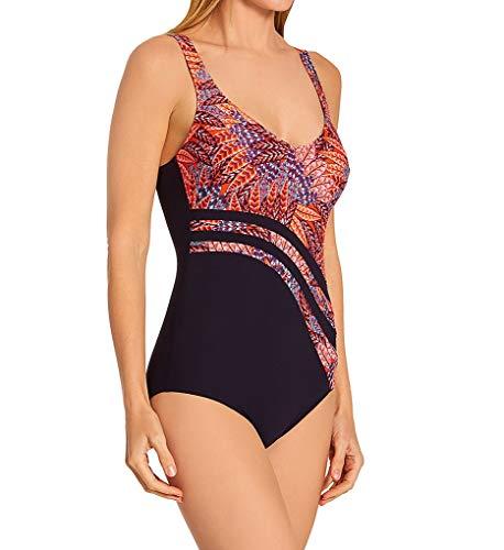 Anita Women's Desert Flowers Luella Shaping One Piece Swimsuit 7393 50D Kir Royal