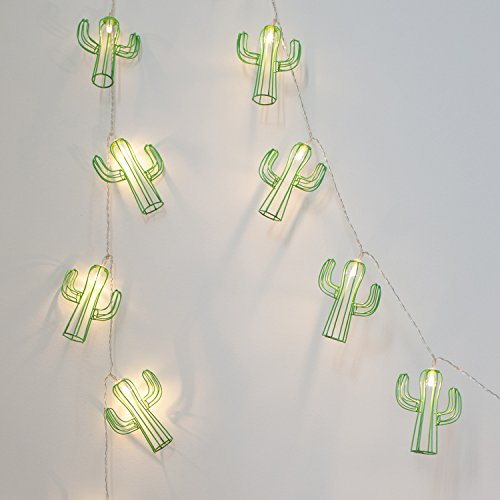 20er LED Kaktus Lichterkette warmweiß batteriebetrieben Timer Lights4fun